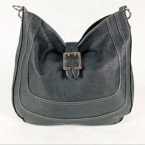 Nine West Faux Leather Black Hobo Bag